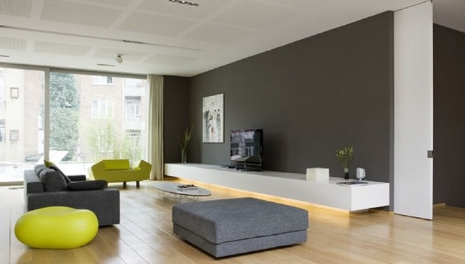 Woonkamer wall colours inrichting