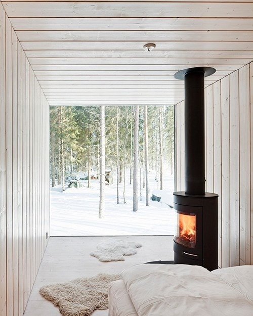 The harsh winters in the north of europe were determining for the design philosophy