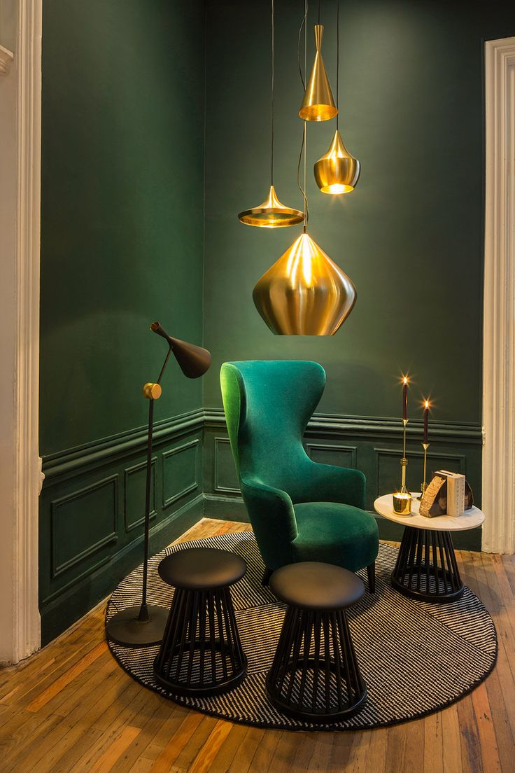 Inspiring interior colours: green and gold | dmlights Blog