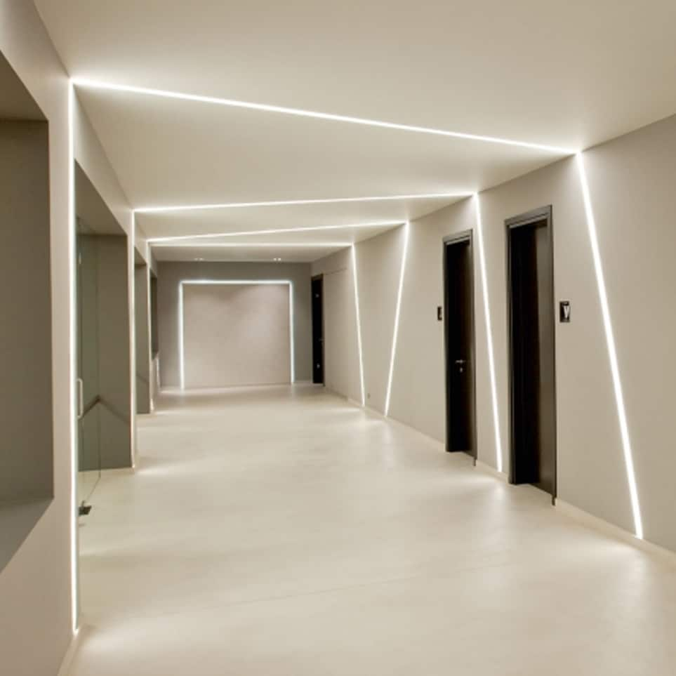 Sleek line lighting adds a modern touch to your interior for Interior lighting design