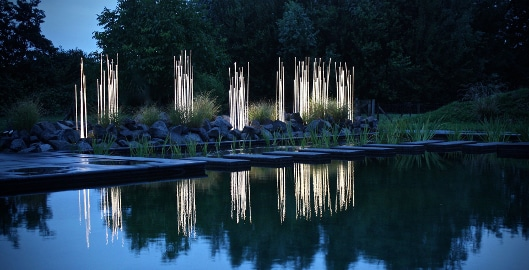 Artistic Outdoor Lighting Illuminating Works Of Art For