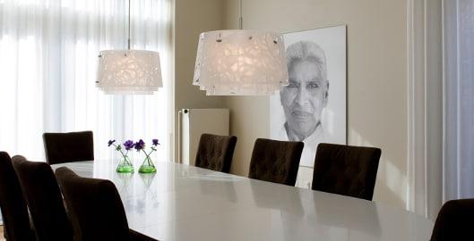 Welke diameter moet de lamp boven je eettafel hebben dmlights