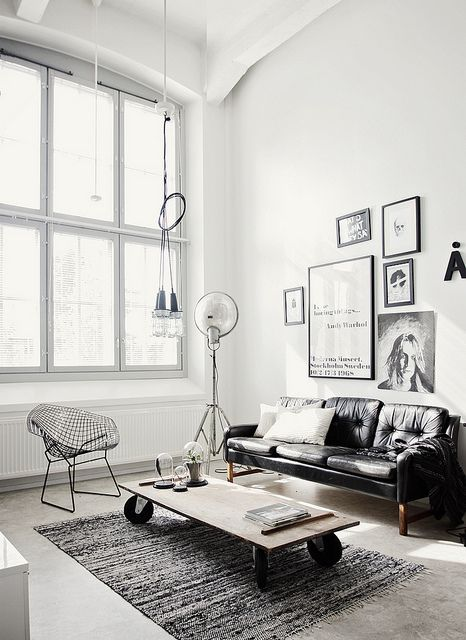 black white interior